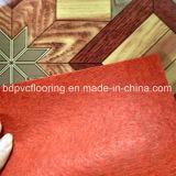 多彩なデザイン0.7mm赤はPVC床/Vinylをロールに床を張ることを感じた