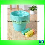 Plastik farbiger Griff-Abfall-Beutel mit Drawtape