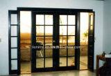Portas francesas superiores quadradas de ferro feito com Sidelights