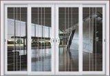 Porte coulissante d'Aluiminum d'interruption thermique blanche de couleur avec le gril de décoration