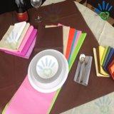 Tampa de tabela colorida não tecida do Tablecloth da tela dos PP