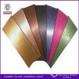 mercado inoxidável decorativo de 201 304 316 UAE da placa de aço