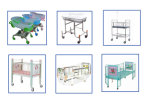 China Supplier Hospital Comfortable Baby Crib Easy zu Move