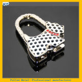 Dalmatinische Form-Legierungs-Haken-Halter-Aufhängung für Fonds-Handtaschen-Beutel-heißen verkaufenden pickeliges Hundegeformtes Metallbeweglichen Handtaschen-Beutel-Halter