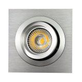 Vertiefte LED unten Leuchte des Drehbank-Aluminium-GU10 MR16 des Quadrat-Neigung (LT2303B)