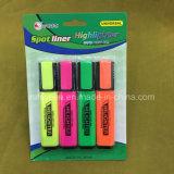 4 penas da pena de marcador do Highlighter das cores, pena fluorescente