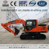 Excavadores medios rojos de la correa eslabonada del excavador 15ton de la maquinaria de Baoding para la venta