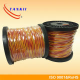 Красный желтый кабель термопары удлинительного кабеля стекла волокна изолированный (тип KX)