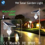 lampe solaire approuvée de jardin de la CE 9W Integrated avec la batterie lithium-ion