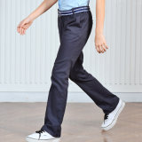 Vente en gros Design traditionnel Classic School Uniform Flat Kaki Pants