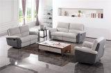 Sofa Moderne de Cuir de Meubles de Salle de Séjour Réglé (433)