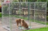Hete die ONDERDOMPELING om Kooi van de Hond van het Netwerk van de Draad van de Buis de Openlucht wordt gegalvaniseerd