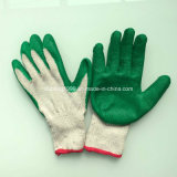 gants fonctionnants enduits de Goves du latex 10gauge blanc cru