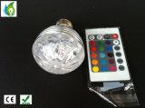 새로운 RGB 전구 풀 컬러 3W LED 수정같은 단계 빛 자동 자전 무대 효과 DJ 램프