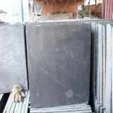 Естественной серой камень декора шифера штабелированный стеной