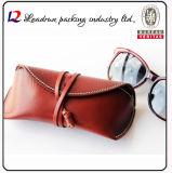 Caisse en cuir de lunettes de qualité (Hx263)