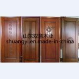Porte intérieure en bois à châssis en noyer avec peinture PU
