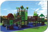 Corrediça ao ar livre Playsets HD-031A dos campo de jogos dos miúdos da série das madeiras