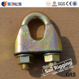 Agrafe malléable galvanisée par attache de câble métallique DIN1142 de calage
