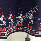 卸し売り女性優雅なレーヨン刺繍の不足分はスリーブを付けるブラウス(DR-112)に