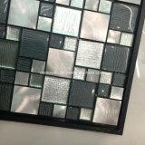 Classicail Schwarz-lamelliertes Glas-und Edelstahl-Mosaik-Fliese