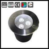Cer RoHS 3W 3X3w begrabene LED AußenInground Lampen