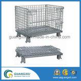 Contenitore galvanizzato pieghevole & accatastabile della rete metallica per memoria del magazzino