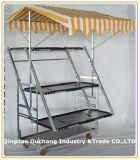 Folding Trolley dinamarquês, Flor cremalheira, da cremalheira da planta dobrável, Foldaway Flower Cart, planta Stand, Metal cremalheira