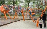 El patio al aire libre de los niños de Kaiqi con el canal neto inoxidable resbala junto con otros pequeños juegos del juego (KQ60124A)