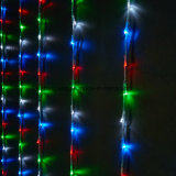 LED 폭포 휴일 끈 빛 크리스마스 장식적인 가벼운 결혼식 커튼 디지털 빛