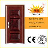 Seguridad Puerta de Acero sola puerta Puerta de hierro forjado Precio (SC-S037)