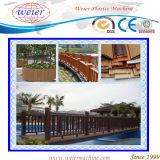 Ligne composée en plastique en bois d'extrusion de profil de Decking du jardin WPC