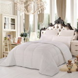 100% Algodão Bedding Bed Set White Big Jacquard Filling Down Duvet