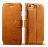 Erstklassige Kippen-Leder-Mappen-beweglicher Handy-Fall für iPhone