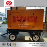 bomba de água 10inch Diesel para a mineração/projeto municipal com reboque de quatro rodas