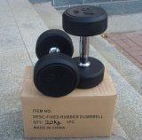 Pesa de gimnasia revestida de goma de G/Fixed (FW-101)