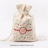 Sac de cordon de coton de promotion pour le cadeau de Noël