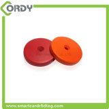 Resistencia a altas temperaturas Etiqueta de disco RFID ABS para sistema de patrulla