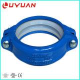 A cor azul sulcou o encaixe flexível para o encanamento da fonte do nascente de água