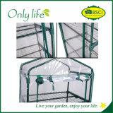 Invernadero del jardín plegable económico del PVC de las gradas de Onlylife 4 mini