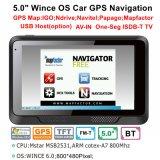 """Do """" sistema de navegação do GPS carro barato 5.0 com 128MB o RAM, 8GB flash, FM-Transmissor, mapa novo de Igo"""