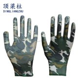 13G Handschoenen van het Werk van de Tuin van de polyester de Nylon met Met een laag bedekt Nitril