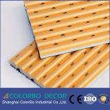 Painéis acústicos da madeira de madeira com revestimento do folheado e do bambu