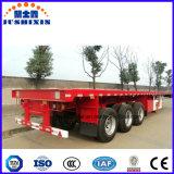 3 반 차축 40FT 평상형 트레일러 콘테이너 트럭 트레일러