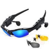 Sonnenbrillen mustert das drahtlose Bluetooth Kopfhörer-Kopfhörer-Telefon, das Gläser Earbuds mit Mic fährt, Gläser für iPhone Smartphone