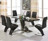 Factory著特別なデザインステンレス鋼のダイニングテーブル