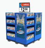 Supermarkt-Zahnstange, die Produkt-/Pappfußboden-Standplatz-Bildschirmanzeige bekanntmacht