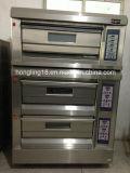 Máquina do pão do cozimento, 3 forno elétrico da bandeja da plataforma 6