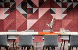 Tarjeta acústica decorativa interior Anti-Moisturebinder de las lanas de madera