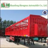 il bestiame del carico della rete fissa degli assi di 60ton Cina 3 trasporta il rimorchio su autocarro